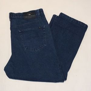 Valentino Jeans men dark wash blue cotton jean pants size 42 big and tall